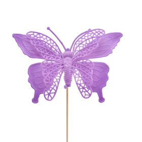 Butterfly Max 16cm on 50cm stick purple