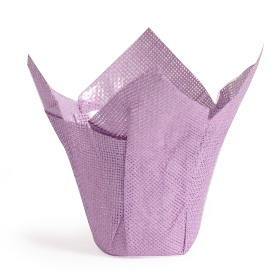 Woven Pot Cover 6 in lilac