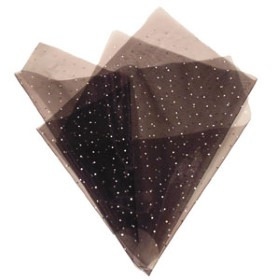 ORGANZA JEWEL 20X28 IN WITH HOLE BLACK