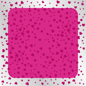 Sheet Flying Hearts 80x80cm cerise