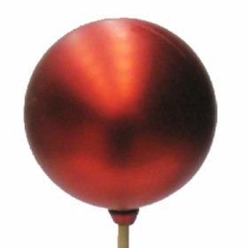 Christmas Ball Matt 6cm on 50cm stick red