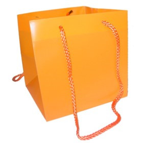 Square Carrybag 6.25x6.25x6.25 in orange
