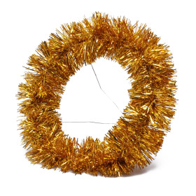 Bouquet holder X-mas Garland Ø25cm gold