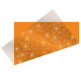 Sheet Melony Pre-folded 75x75cm orange