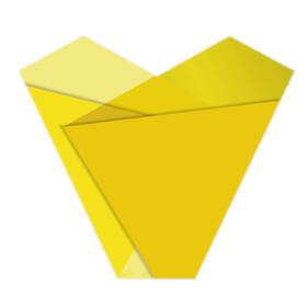 Sleeve Teagan 50x54x15cm yellow