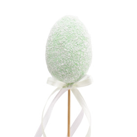 Candy Egg 7cm on 50cm stick green
