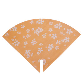Sleeve Floral Stamp 35x35cm orange