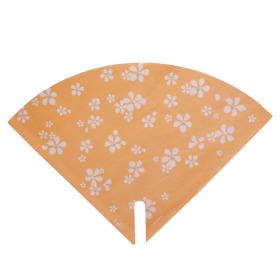 Hoes Floral Stamp 35x35cm oranje