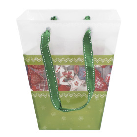 Carrybag Christmas 17/13x11/11x20cm green