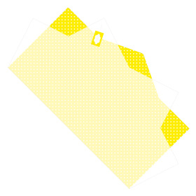 Sheet Doublé Nonwoven Dots 50x85cm yellow