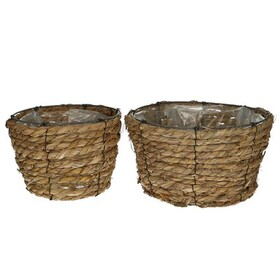 Baskets rope Pot S/2 Ø24.5 x H13.5cm