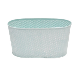 Zinc Oval Honeycomb 7x3.5xh4in blue
