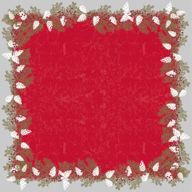 Garland 24x24 in red H3