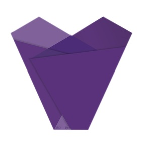 Sleeve Teagan 50x54x15cm purple