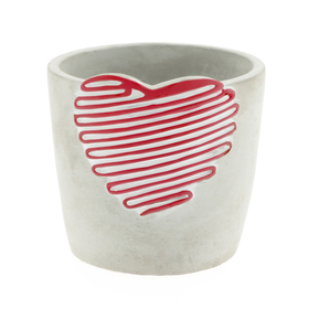 Concrete pot Love Signature ES12 red