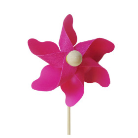 Windmill Solid 3.5 in on 20 in stick pink