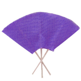 Bouquet holder Jute 25cm purple