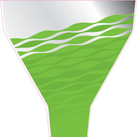 Serenity 21x17.5x5 in green