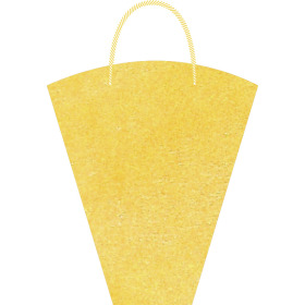 Flowerbag Nonwoven 40x30x12cm yellow