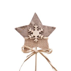 Star Juty 8.5cm on 50cm stick natural