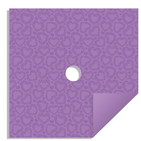 Watersafe Tissue Sweet Romance 24x24in lavender with hole