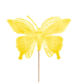 Butterfly Max 16cm on 50cm stick yellow