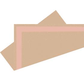 Voorgevouwen vel Kirsten 75x75cm FSC Mix roze