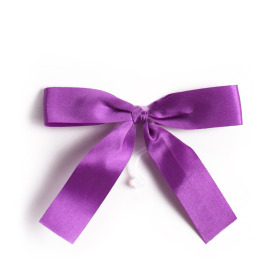 Plastic bow 10cm with clip lilac