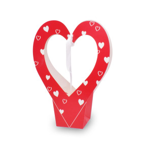 Gift bag Valentine Heartbeat 26x12x35cm red
