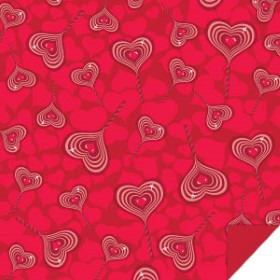 SWEETHEART 24x24 IN RED