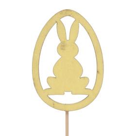 Egg Rabbit 5cm on 10cm stick yellow