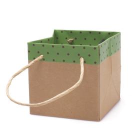 Carton bag Sophie 13x13x13cm green