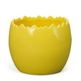Easter Ceramic pot Egg 4-4.5 yellow
