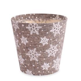 Pot Snowflake 5in silver
