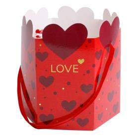 Carrybag  Adore Love Ø15x17cm red