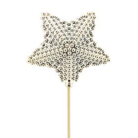 Star Blinkle 8.5cm on 50cm stick gold