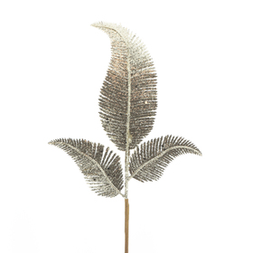 Christmas leaf Blizz 24cm on 45cm stick gold
