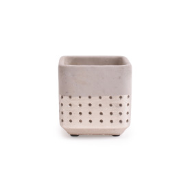 Concrete Pot Filigree 10.7x10.7 H10cm champagne