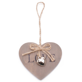 Heart Little Love 3x2.75in on 20in stick gray