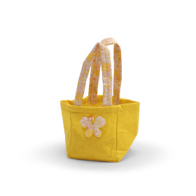 Carrybag Butterfly Felt 9.5x9x11cm yellow