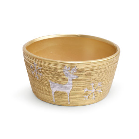 Ceramic bowl Caribou Ø15.5cm gold