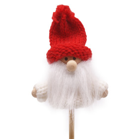 Winter Doll Rufus 6.5cm on 50cm stick white