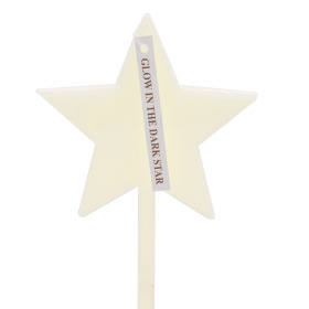Star Glow in the dark 8cm on 10cm stick