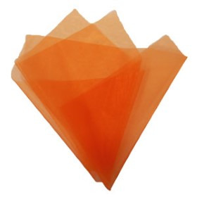 Organza 20x28in orange with 3in hole