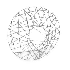 Boekethouder X-mas Wire Ø25cm zilver