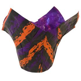 "Potcover Sketched Lines 6"" purple/orange/black"
