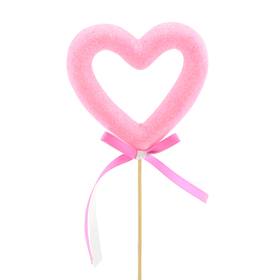 Hart Aimee 10cm op 50cm stok roze