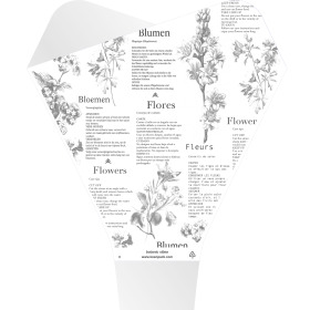 Sleeve Doublé Botanic Vibes 50x44x12cm white