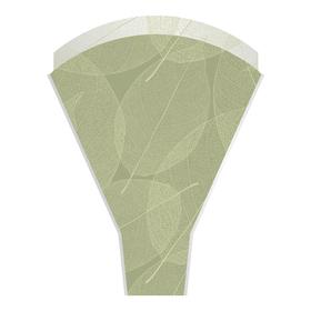 Sleeve Skeleton Leaves 50x35x10cm green