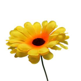 Sunflower 8cm on 50cm stick yellow
